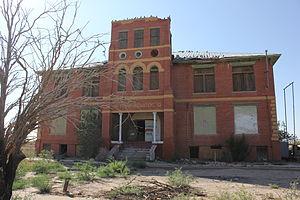 Toyah, Texas - Historic high school in Toyah