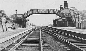Aber (LNWR) railway station - Aber station in 1936, looking east toward Conwy