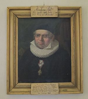 Abraham Pihl - Abraham Pihl (portrait in his church) by Johannes Flintoe