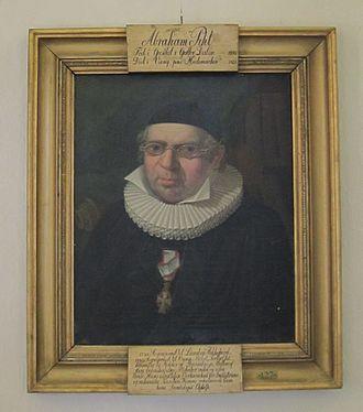 Abraham Pihl - Abraham Pihl (portrait in his church) by Johannes Flintoe