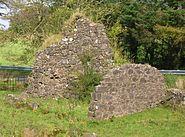 Achinbathie Tower ruins and Tower Farm ruins