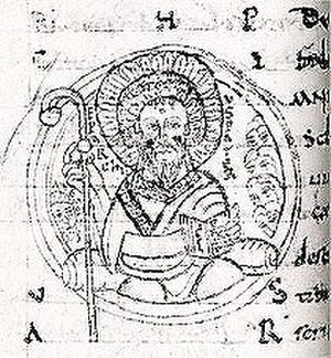 Adémar de Chabannes - Drawing of Saint Cybard by Adémar