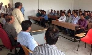 Adarsh Shastri - Adarsh Shastri interacting with First Batch of LBS Polytechnic, Manda