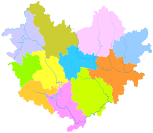 Hechi - Image: Administrative Division Hechi