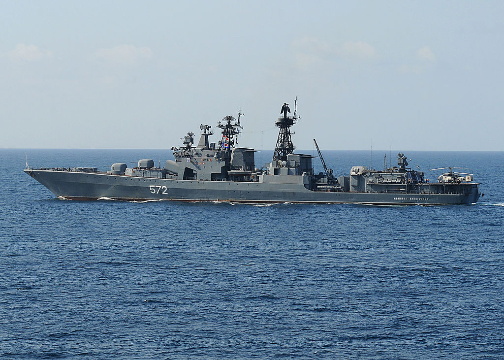 """وزارة الدفاع المصرية :  روسيا تهدى مصر أحد لنشات الصواريخ المتطورة من طراز """"مولينيا""""  1024px-AdmiralVinogradov2009"""