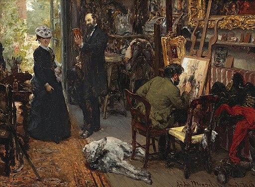 Adolph von Menzel - Meissonier im Atelier in Poissy
