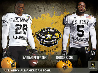 U.S. Army All-American Bowl - NFL running backs Adrian Peterson and Reggie Bush both played in the U.S. Army All-American Bowl