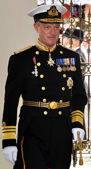 Uniforms of the Royal Navy - Ceremonial Day Dress, as worn by Vice-Admiral Sir Adrian Johns