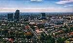 Aerial panorama of Box Hill, taken from Surrey Park. Taken April 2018.jpg
