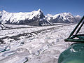 Aerial view of Inylchek Glacier from a Mil Mi-8 helicopter.jpg
