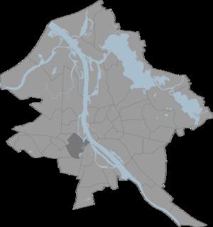 Āgenskalns - Location of Āgenskalns in Riga