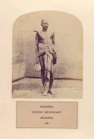 Aghori - Image: Aghoree, Hindoo mendicant, Benares