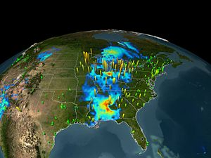English: Air quality from EPA and MODIS on 11 ...