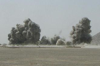 Battle of Shewan - Airstrike in Shewan during the battle.