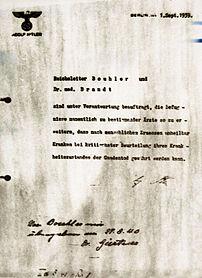 Euthanasie, nazi, third reich, aktion brand