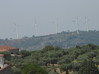 Albanella - Wind farm in Albanella.