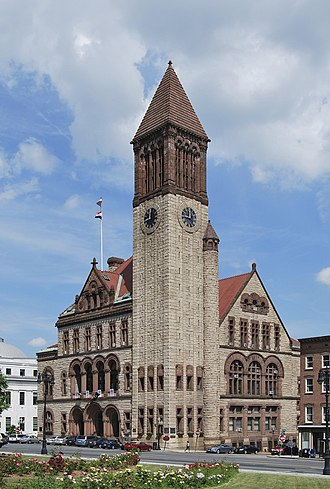 134th New York State Legislature - The Albany City Hall, where the Legislature met for a few days after the fire