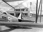 Albany Army Airfield - PT-17 Stearman in front of Door Aero-Tech Operations Building.jpg