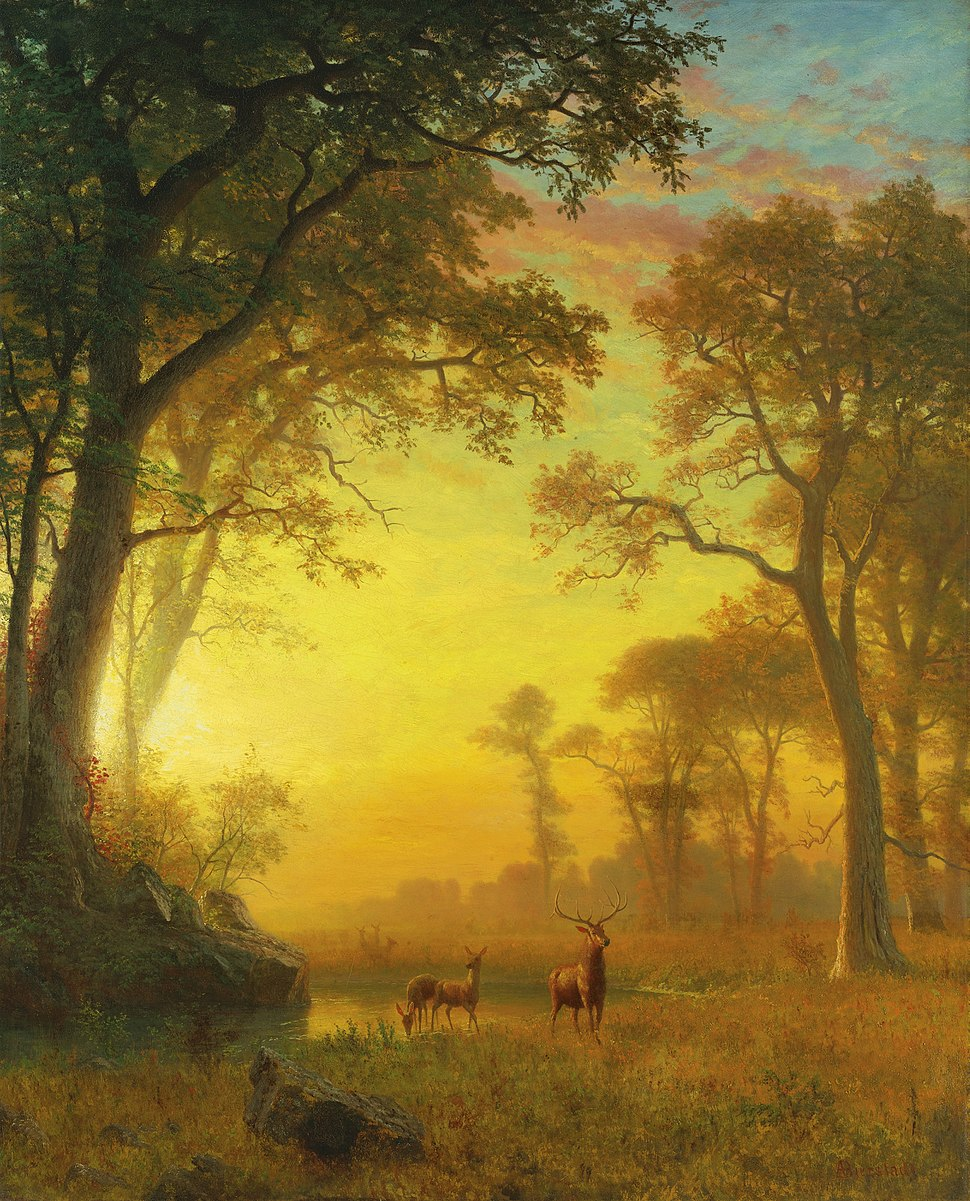 Albert Bierstadt - Light in the Forest