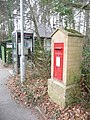 Alderholt, postbox № SP6 350 and phone, Station Road - geograph.org.uk - 1163947.jpg