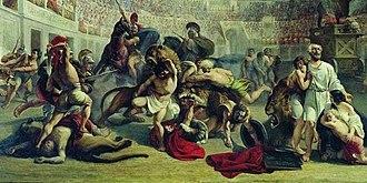 Alexey Tarasovich Markov - Image: Alexey Markov Евстафий Плакида в Колизее+ (1839) ГТГ