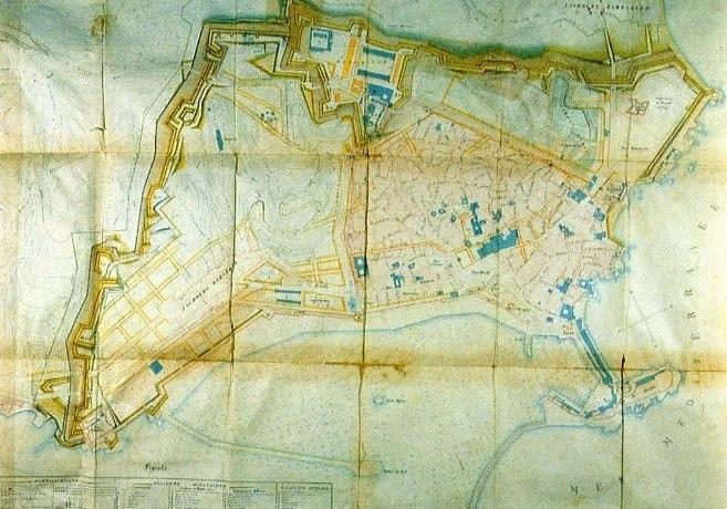 Alger algiers map plan villeneuve 1840