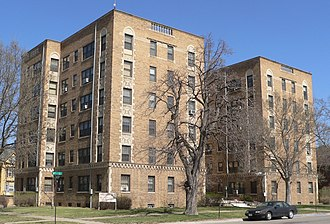 National Register of Historic Places listings in Woodbury County, Iowa - Image: Alhambra Apartments (Sioux City) from SW 1