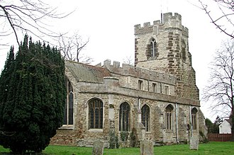 Nicholas Spencer - All Saints Church, Cople, Bedfordshire, childhood parish of Nicholas Spencer