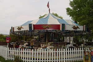 Allan Herschell Company - A 1920s Allan Herschell Company merry-go-round at Trail Dust Town