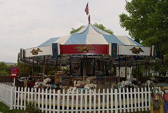 Allan Herschell Company - Image: Allan Herschell carousel in 1920s, Trail Dust Town, Tucson, Arizona