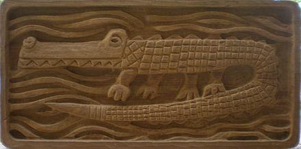 Wood Carved Alligator Letter Opener