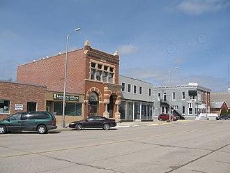 Allison, Iowa - Downtown Allison, Iowa, March 2008