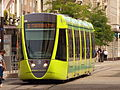 Alstom tram green wagon 108 of the Reimsmetropole.jpg