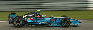 Álvaro Parente - Parente driving for Ocean Racing Technology at the Nürburgring round of the 2009 GP2 Series season.