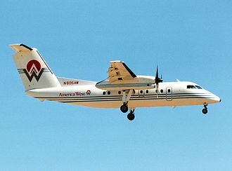 America West Airlines - de Havilland Canada DHC-8 Dash 8 series 100 in 1991