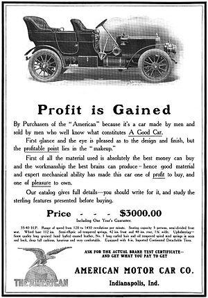 "American Motor Car Company - American Motor Car Company of Indianapolis, Indiana - ""The American"" - 1906"