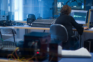 Recording studio - An audio production facility at An-Najah National University
