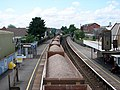 An aggregate train passing through Totton Station - geograph.org.uk - 838352.jpg