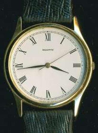 Analog watch - An analog watch