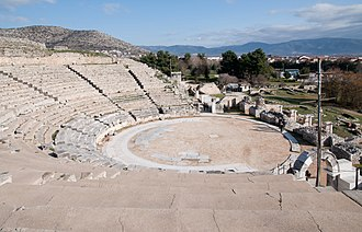 Philippi - The ancient theatre.