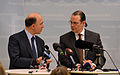 Anders Borg and Pierre Moscovici at a press conference March 2013 003.jpg
