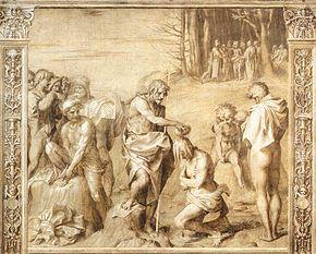 Battesimo del Battista, chiostro dello Scalzo