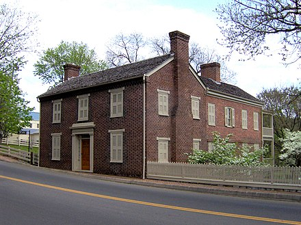 The Andrew Johnson House, built in 1851, Greeneville, Tennessee Andrew-johnson-house-tn1.jpg