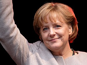 This image shows Angela Merkel who is the the ...