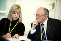 Anna Ljunggren och Martin Kolberg fran Norge pa medborgar- och konsumentutskottet mote sessioen 2009.jpg