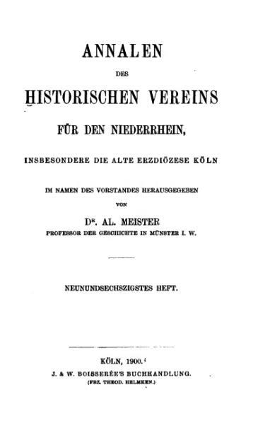 File:Annalen des Historischen Vereins für den Niederrhein 69 (1900).djvu