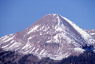 Antler Peak mountain in United States of America