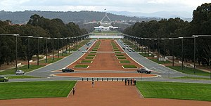 Remembrance Driveway (Australia) - The Remembrance Driveway in Canberra, from a view on the steps of the Australian War Memorial.
