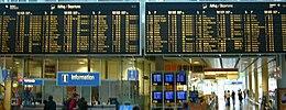 Anzeigetafeln für abgehende Flugverbindungen