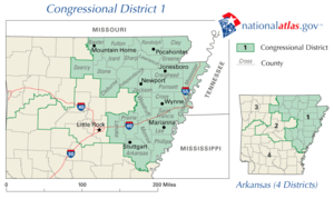 United States House of Representatives elections in Arkansas, 2008 - Image: Ar 01 109